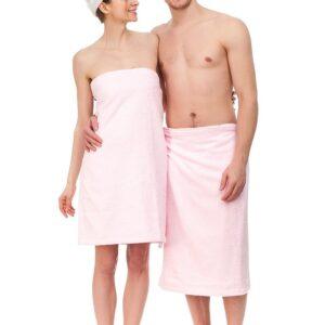 Товар для сауни парео розовый махра